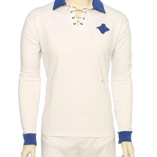 retro tröja med påsydd logga